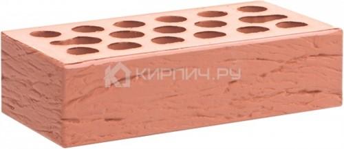 Кирпич облицовочный красный одинарный рустик М-150 Керма