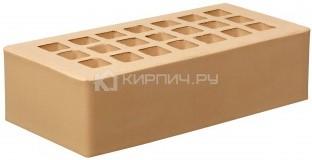 Кирпич для фасада медовый одинарный гладкий М-200 ЖКЗ в