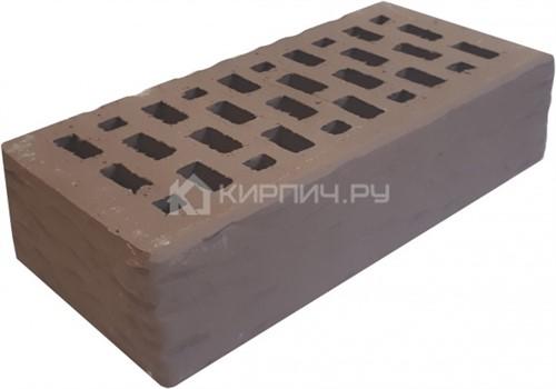 Кирпич для фасада мокко одинарный рустик М-150 Терекс в