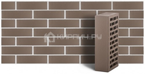 Кирпич для фасада серый одинарный гладкий М-150 ЛСР