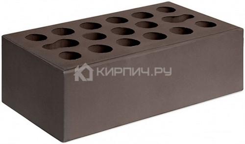 Кирпич для фасада шоколад полуторный гладкий М-150 Керма