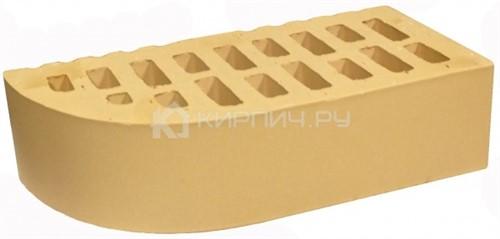 Кирпич для фасада слоновая кость одинарный гладкий фасонный внеш.угол М-150 БКЗ