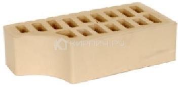 Кирпич  М-150 слоновая кость одинарный гладкий фасонный внут.угол БКЗ