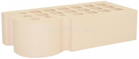 Кирпич для фасада слоновая кость одинарный КФ-3 гладкий М-175 ЖКЗ