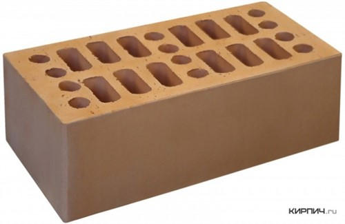 Кирпич для фасада солома полуторный гладкий М-150 Кострома