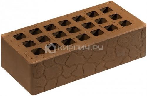 Кирпич для фасада светло-коричневый одинарный черепаха М-150 Саранск