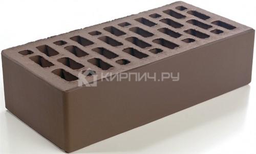 Кирпич одинарный светло-коричневый гладкий М-150 Браер