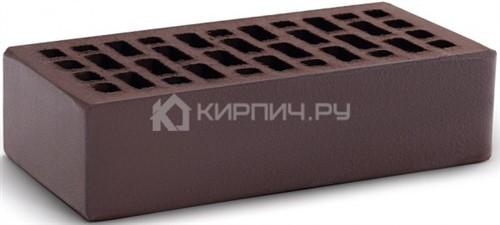 Кирпич для фасада темный шоколад одинарный гладкий М-150 КС-Керамик