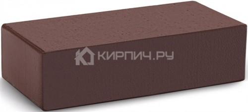 Кирпич облицовочный темный шоколад одинарный гладкий полнотелый М-300 КС-Керамик
