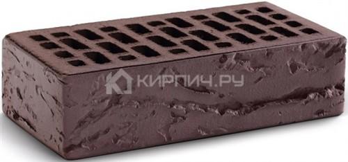 Кирпич одинарный темный шоколад кора дерева М-150 КС-Керамик