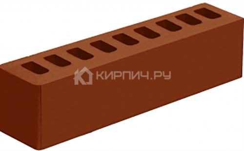 Кирпич для фасада темный терракот гладкий ИК-2 М-150 Голицыно в