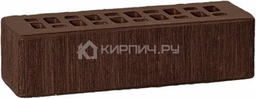 Кирпич облицовочный темно-коричневый одинарный бархат М-175 ГКЗ