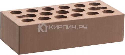 Кирпич Керма терракот светлый одинарный гладкий М-150