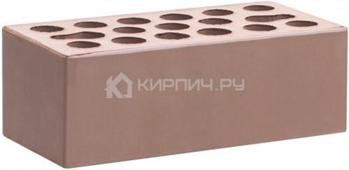 Кирпич для фасада терракот светлый полуторный гладкий М-150 Керма