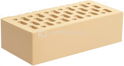 Кирпич для фасада ваниль одинарный гладкий М-150 Магма