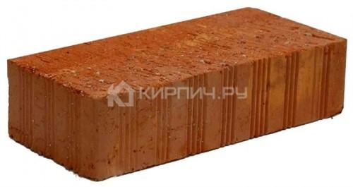 Кирпич керамический полнотелый одинарный М-125 рифленый Ломинцево