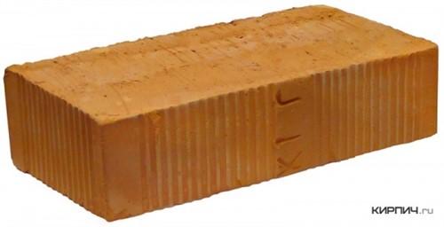 Кирпич керамический полнотелый одинарный М-150 рифленый Воскресенский в