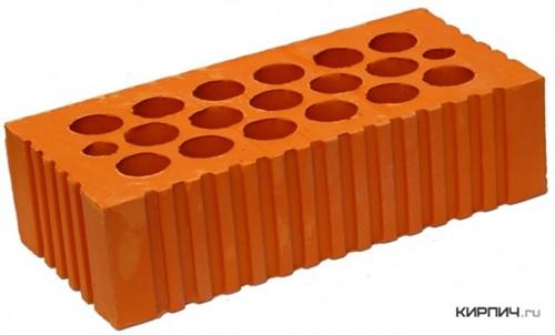 Кирпич керамический щелевой одинарный М-150 рифленый Каширский кирпич в