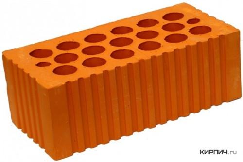 Кирпич керамический щелевой полуторный М-150 рифленый Каширский кирпич