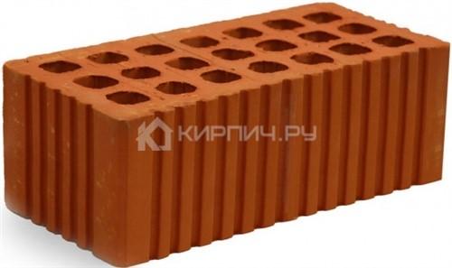 Кирпич строительный щелевой полуторный М-150 рифленый Михневская керамика в