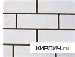 Силикатный кирпич белый одинарный рустированный ложок КЗСК