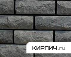 Силикатный кирпич черный полуторный рустированный угол КЗСК