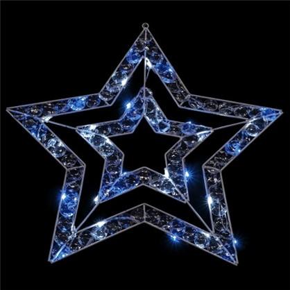 Гирлянда Звезда синяя 36 ламп 57 см для улицы в