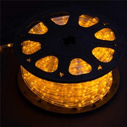 Гирлянда для улицы дюралайт жёлтый 50 м 24 лампы в