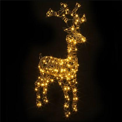 Гирлянда-фигура Олень 160 LED ламп 98 см коричневый цвет для улицы в
