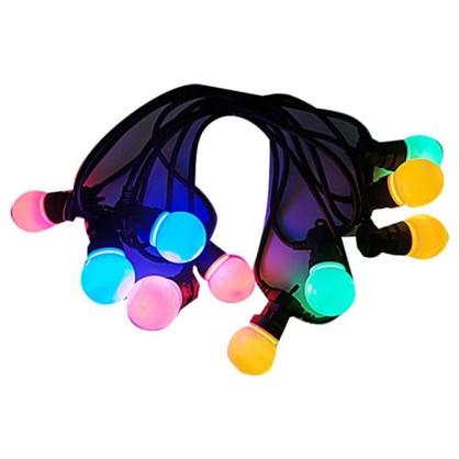 Гирлянда-шнур 10 шаров без блока питания 50 LED ламп цвет мультиколор в