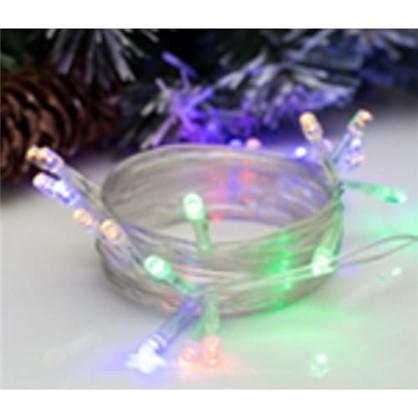 Светодиодная гирлянда 20 ламп 2.5 м цвет мультиколор в