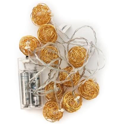 Светодиодная гирлянда Металлические шарики для дома 10 ламп в