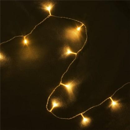 Светодиодная гирлянда Нить для улицы 48 ламп 5 м цвет тёплый белый в