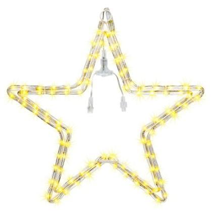 Светодиодная гирлянда для улицы Звезда 96 ламп свет тёплый белый в