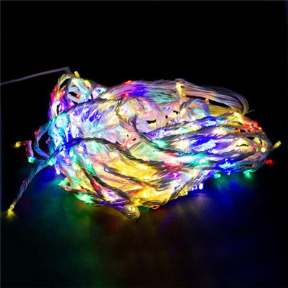 Гирлянда-занавес Водопад 480 ламп мультиколор для улицы в