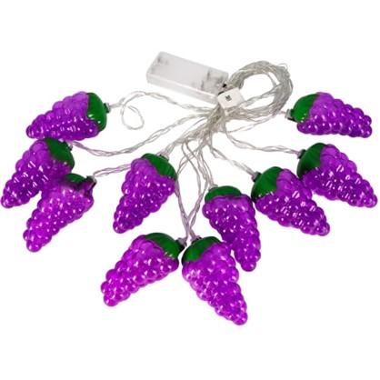 Гирлянда светодиодная Uniel Виноград на батарейках 4 м цвет фиолетовый в