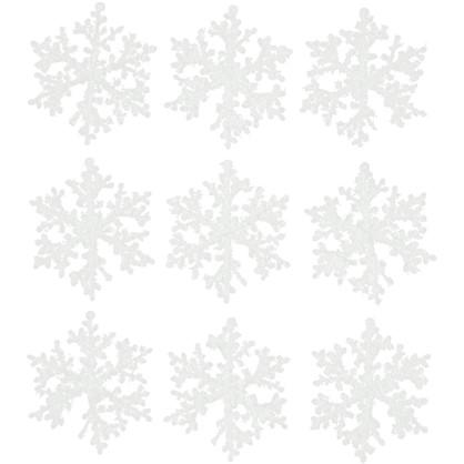 Набор Елочных Украшений Снежинки 7 См в