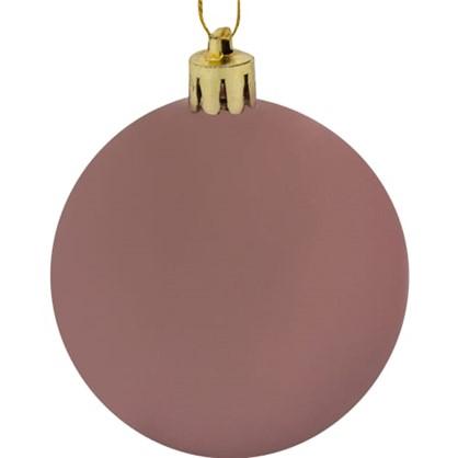 Шар Елочный 6 См Пластик Цвет Розовый в