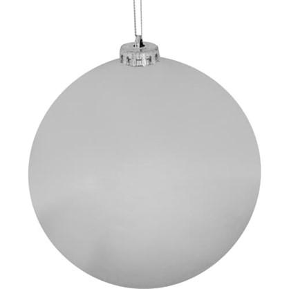 Шар Елочный 6 См Пластик Цвет Серебро в