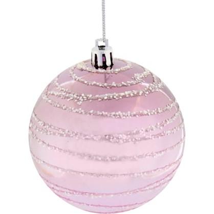 Шар Елочный 7.8 См Пластик Цвет Розовый