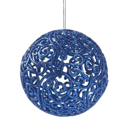 Шар Елочный Ажурный 10 См Пластик Цвет Синий в