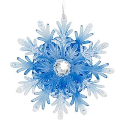 Украшение Снежинка Прекрасная 125 См Цвет Синий в