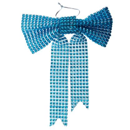 Украшение Декоративное Бантик Голубой в