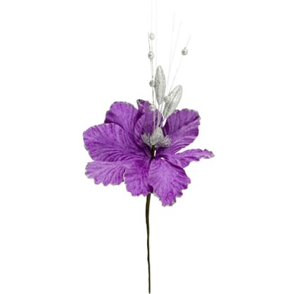 Украшение На Спице Цветок 40 См Цвет Фиолетовый в