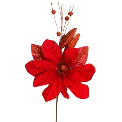 Украшение На Спице Цветок 40 См Цвет Красный