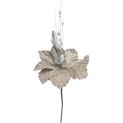 Украшение На Спице Цветок 40 См Цвет Серебро в