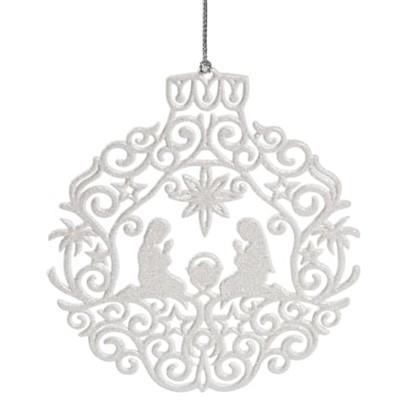 Украшение Новогоднее Рождество Пластик Цвет Белый в