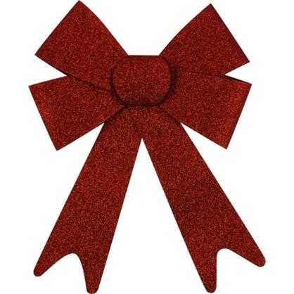 Украшение Елочное Бант Из Парчи 30 См Текстиль Цвет Красный в