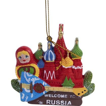 Украшение Елочное Кремль И Матрешка 8 См в