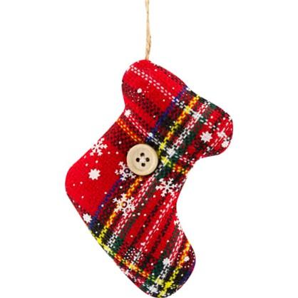 Украшение Елочное Носок Рождественский Текстиль в